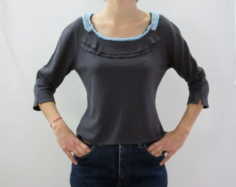Wool jersey top