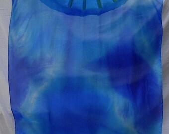 Fan Veil Set (2 fans)-Nebula Series-Midnight/Turquoise
