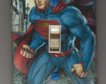 Superman Light Switch Cover Plate - New 52