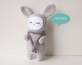 Crochet pattern Bunny, Amigurumi Bunny Pattern, Amigurumi Pattern Bunny Pattern,Bunny Amigurumi Pattern,Amigurumi Animal Crochet Pattern PDF