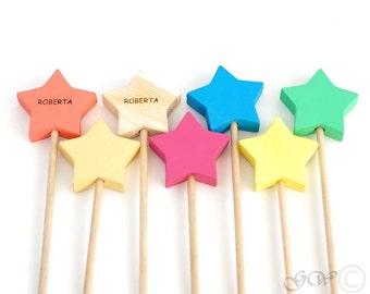 Wooden Magic Wand, Wooden Star Wand, Princess Wand
