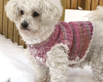 Dog vest / sweater / jacket in soft merino wool (handmade knitted) - sizes XS, S, M, L