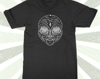 Strange Alien Being - Humanoid - Psychedelic - Alien Shirt - Third Eye - Astral Plane - Esoteric - Extraterrestrial - Space - Trippy