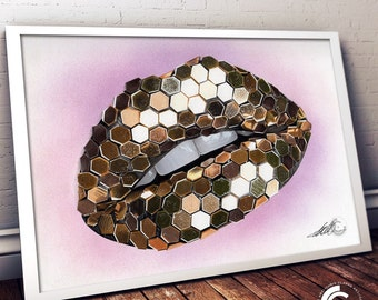 Sequin Lips Limited Edition Print