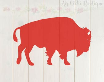 Buffalo SVG, PNG, DXF files, instant download