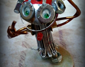 Tinktopia Punk - Bot, hand made mixed media punk robot by Beth Applebey. Made to order. Father's day gift