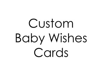 Printable baby shower game, Wishes for Baby, customized