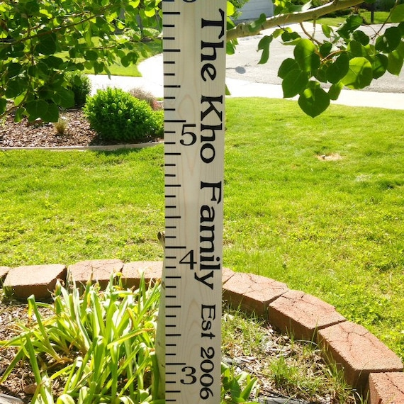 SALE Personalized Wooden Growth Chart