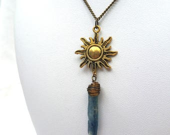 Kyanite sun necklace
