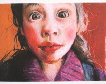 Sofia / Paper print -  Portrait drawing - ART PRINT