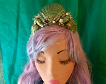 Seashell Crown/Tiara, Mermaid headpiece