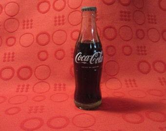 """VTG 1966 Unopened Coca Cola Bottle Hecho En Mexico 7 7/8"""" Tall 6oz"""
