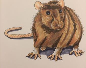 Inktober Rat Print!