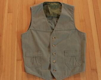 Men's Vintage Lee's Seafoam Vest / Suit Vest / Medium