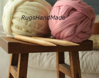 4.4lb DIY Knit Kit,Super Chunky Blanket Knit Kit 30'' x 50'' 2 kg(4.4 lb) Diy Kit, Baby blanket kit,Super chunky yarn, Merino Wool