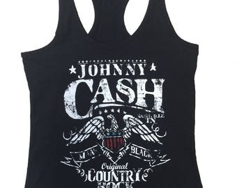 A Tribute To Johnny Cash New Design Womens Tank Top