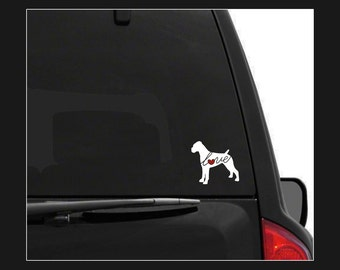 Boxer Love: A Car Window Vinyl Decal - Laptop Sticker - Dog Breed Decals - Dog Stickers - Cooler Decal - Gift for Dog Lover