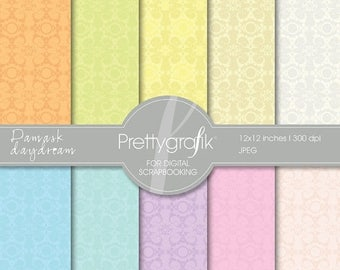 80% OFF SALE Damask  digital paper, commercial use, scrapbook papers, background - PS530