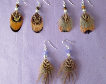 Clearance - Three pairs of feather earrings . . . set 132