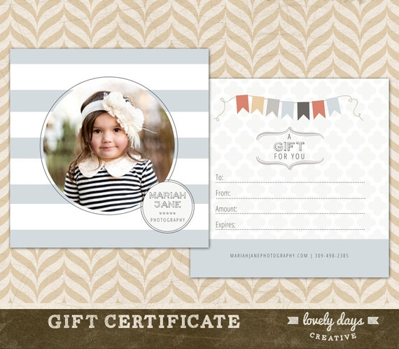 photography gift certificates templates free  Photography Gift Certificate Template for Photographers