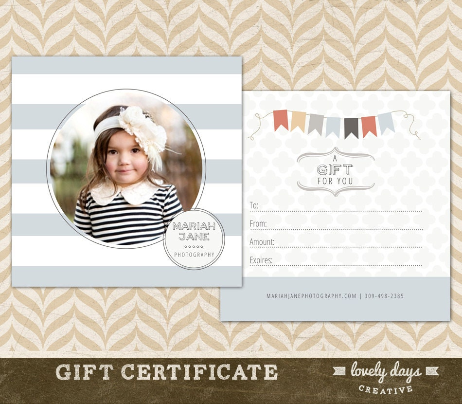 Photography gift certificate template for photographers zoom 1betcityfo Images