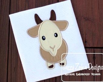 Goat Applique embroidery Design - farm Appliqué Design - goat Applique Design