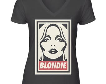 Blondie Inspired V Neck T-Shirt
