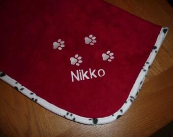 Personalised  Pet Blanket  Medium size  100 x 70 cm