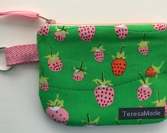 XX-Small Strawberry Zip Pouch