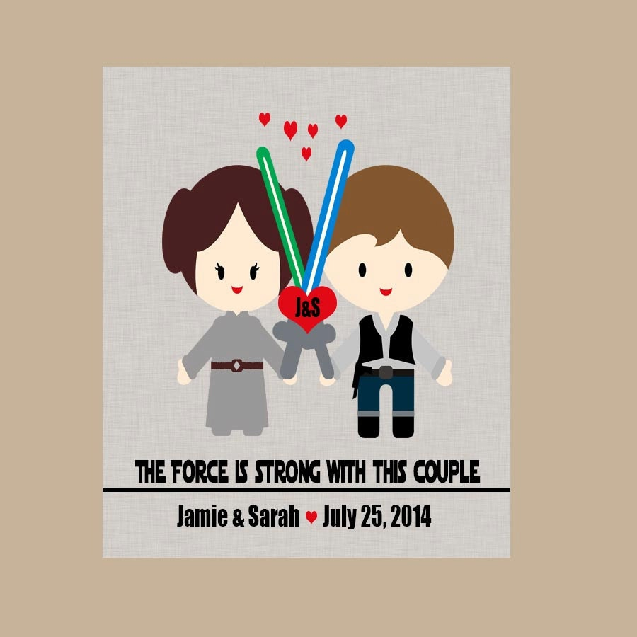 Star Wars Wedding Gift Star Wars Anniversary Gift Geek