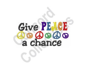 Peace - Machine Embroidery Design