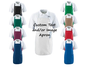 Custom Apron with Pockets, Personalized Apron, Kitchen Apron, Baking Apron, Adult Apron, Custom Apron, Personalised Apron