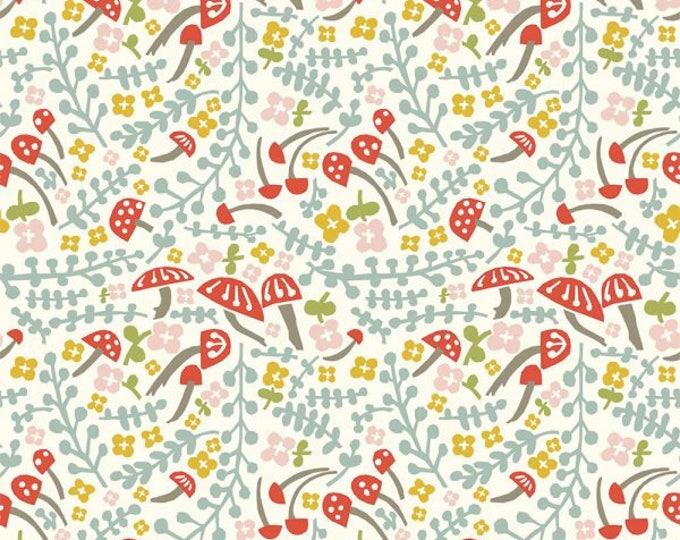 Organic KNIT Fabric - Birch Folkland Knit - Mushroom Keep Knit