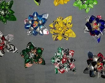 They magnets are made with various aluminum cans! Beautiful Colors! SPECIAL SALE!