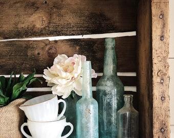 Cream & Sugar Set  || Swirled Milk Glass || Gold Trim || Farmhouse Fresh || Farmhouse Style || Vintage Style || Vintage Kitchen || Fire King