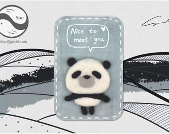Needle Felting Kits,Panda,Cute Kit,Handmade,Accessories