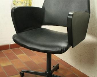 Vintage skai writing desk chair