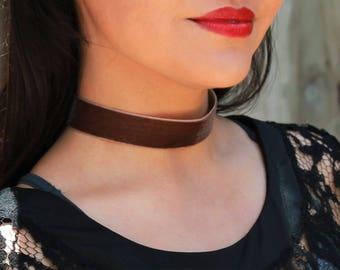 Brown Velvet Choker Necklace Handmade