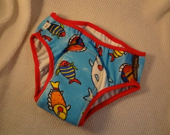 IN STOCK - Bamboo and Cotton YOUTH Incontinence Underwear with Waterproof Pad - Boys Size 5T, 8, 10
