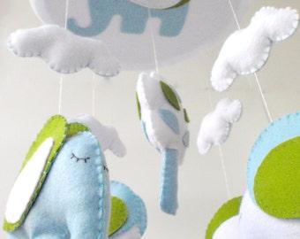 Baby mobile elephant / Elephant Baby Crib Mobile / Elephant Mobile / Elephant Baby Mobile / Baby Crib Mobile / Baby Mobile