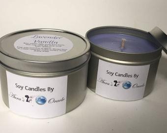 Lavender Vanilla 8oz Soy Candle