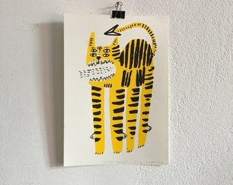 Sérigraphie «El Tigre Toxico»