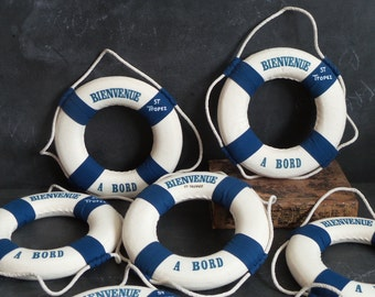 6 St Tropez Nautical Life Rings Accent Decor; Welcome Aboard Decoration; Nautical Theme