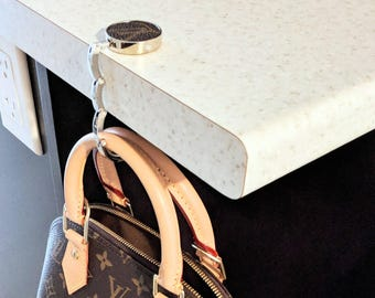 Louis Vuitton Bag Hanger - upcycled LV Bag Hanger - Louis Vuitton Bag Hook - repurposed LV Bag Hook - LV Purse Hanger - Vuitton Purse Hook