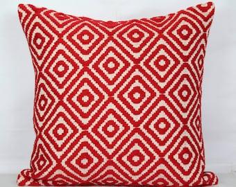 Red throw pillow covers 24x24 pillow covers 20x20 pillow covers 18 x 18 cushion cover 26x26 pillow cover decorative christmas pillows case