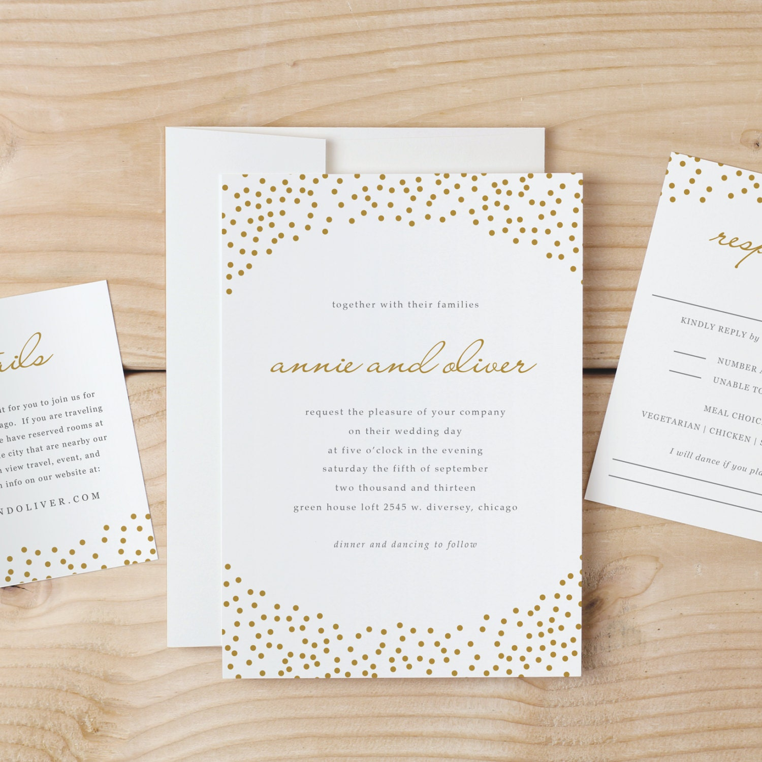 Wedding Invitation Template Download Gold Dots Word Or - Wedding invitation templates: wedding invitation template download