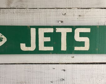 Hand Painted New York Jets Super Bowl III Endzone Replica