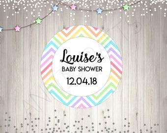 Rainbow Baby Shower Stickers Rainbow Baby Cute Personalised Custom Baby  Shower Stickers Cute Baby Stickers UK