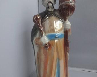 Mongolian Priest figurine  standing 29cm