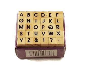 Mini Alphabet Rubber Stamp Set  (ARS-12)